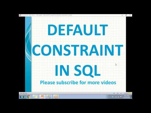 Default Constraints in SQL