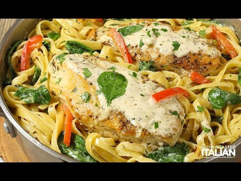 Tuscan Garlic Chicken and Linguine