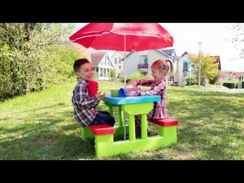 Kids table and bench picnic table | Tectake - 401645