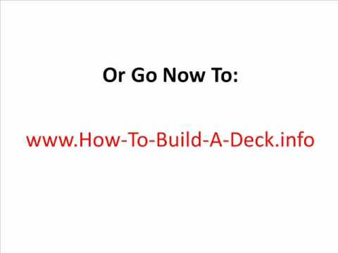 How To Build A Deck - Step By Step Info On How To Build A Deck