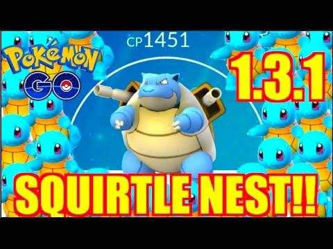 HOW TO GET (EASY) BLASTOISE POKEMON GO!! SQUIRTLE NEST 1.3.1!!