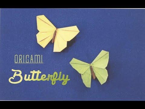 How to make an origami BUTTERFLY (Hướng dẫn gấp con bướm )