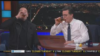 Brady Opens Up About Super Bowl, Chugs Beer On Late Show