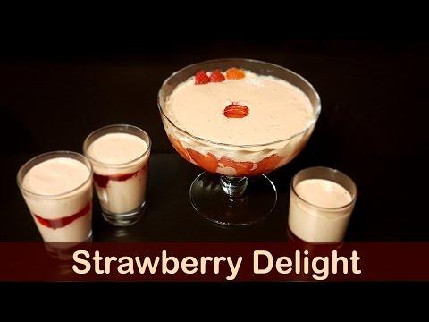 Strawberry Delight   اسٹرابیری ڈیلائٹ  - Cook with Huda