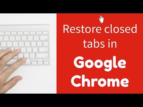 Restoring closed tabs and windows in Google Chrome