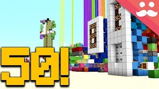 50 Redstone Builds in ONE TAKE!