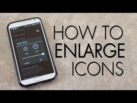 How To Enlarge Icons On Android - The Blind Life