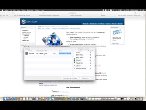 how to manually change fan RPM on mac/windows bootcamp?