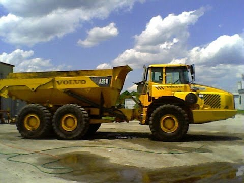 Operating Volvo A35 Offroad Dumptruck