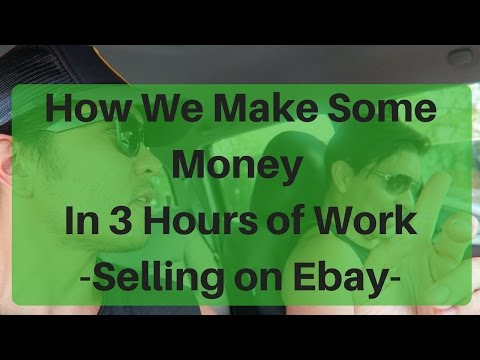 HOW WE MAKE MONEY IN 3 HOURS - SELLING ON EBAY