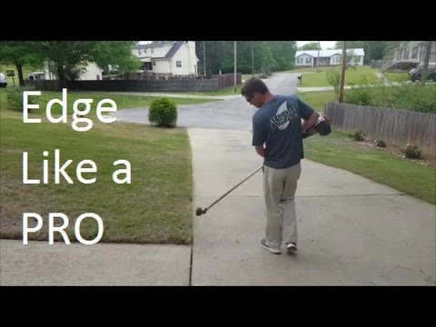 How to Edge with a String Trimmer and an Edger