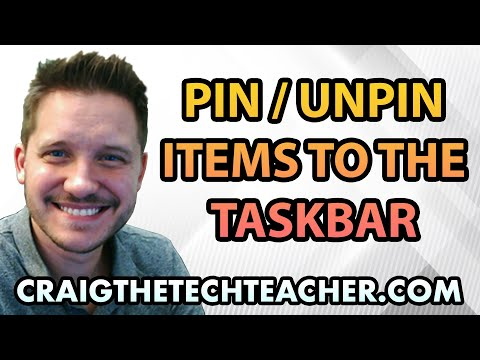 How To Pin (Or Unpin) Items To The Windows 10 Taskbar