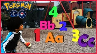 Learning ABC Letter Alphabets and Numbers 1-10 With Pokemon Go | PRETEND PLAY
