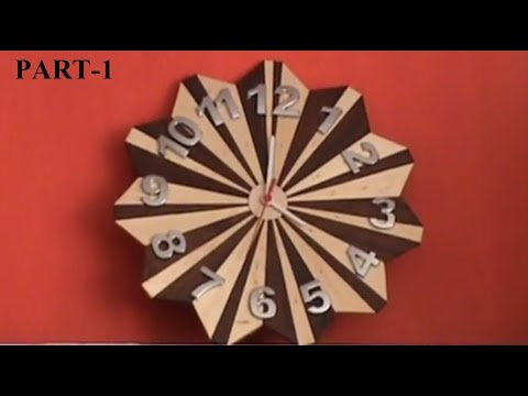 WOODEN CLOCK How To Make - Part 1/2