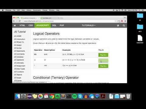 Logical Operators (JavaScript)
