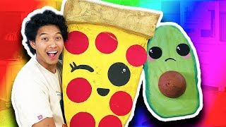 DIY GIANT PIZZA SQUISHY!!! SAD AVOCADO! Worlds Largest Squishy!