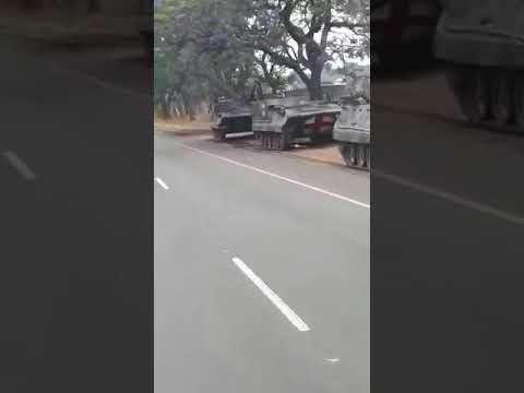 Army tanks heading to Harare
