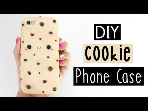 DIY CHOCOLATE CHIP COOKIE PHONE CASE!