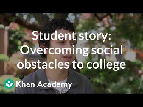 Student story: Overcoming social obstacles to college