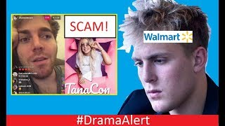 Jake Paul ROASTED by Walmart! #DramaAlert Shane Dawson vs TanaCon! Scam Exposed by Police!
