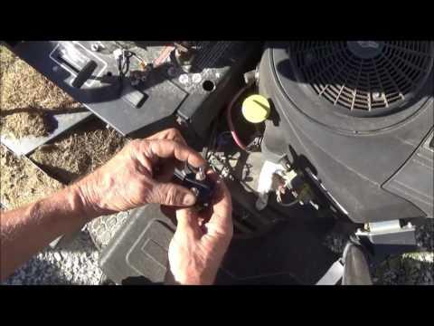 Lawn mower starter clicks but won't start, change solenoid