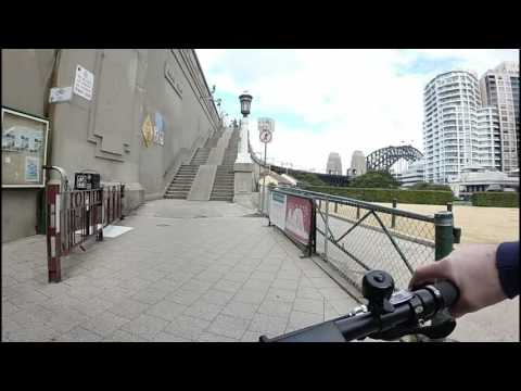 Sydney Harbour Bridge Climb on the Dyson Bikes Thredbo Fat Electric Bike