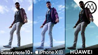 Samsung Note 10 Plus vs iPhone XS Max vs Huawei P30 Pro Camera Test Comparison
