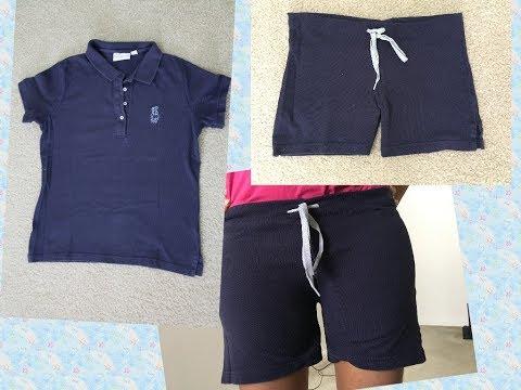 DIY Shorts from T Shirt
