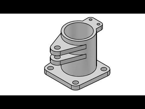 3D AutoCAD practice drawing