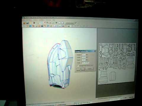 3D halo paper model tutorial.