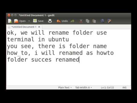 Rename a folder in terminal Ubuntu