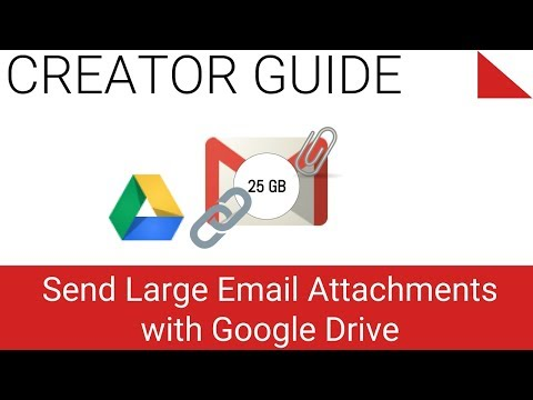 Send very large attachments with your email