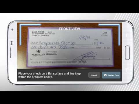 Depositing a Check with Mobile Deposit