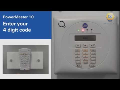How to unset your alarm using a code - PowerMaster 10 Panel - ADT UK