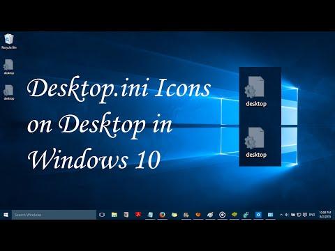 desktop.ini icons on desktop in windows 10