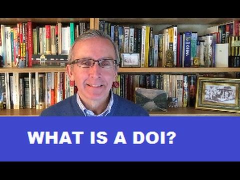 What is a DOI (or digital object identifier)?