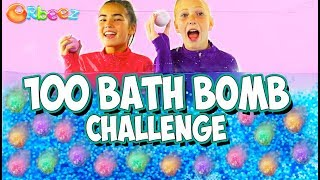 100 BATH BOMB CHALLENGE With Orbeez!   Official Orbeez