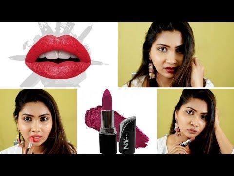 Best Rs. 100 Lipsticks - NY Bae Matte Lipsticks v/s  Colorbar  Maybelline and LA