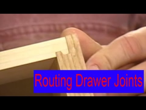 Routing secure drawer joints