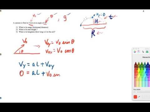 Projectile Motion - Hangtime Derivation