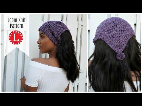 LOOM KNITTING Ear warmer Pattern - Headband Hat on a round loom | Messy Bun Hat | Loomahat