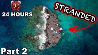24 HOURS STRANDED ON A LAVA ROCK ISLAND!!! (Hawaii Edition Part 2) | JOOGSQUAD PPJT