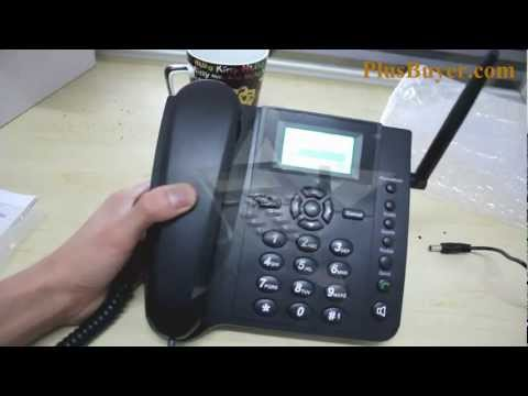Quadband Wireless Desk Phone with SMS Function - 2.4 Inches