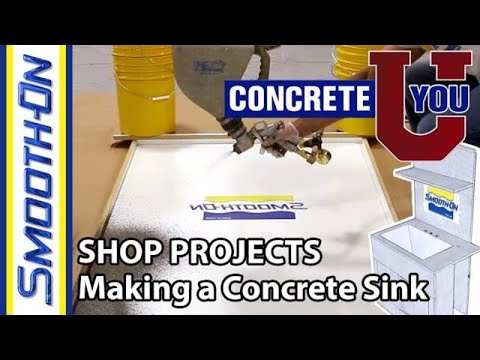 Shop Projects - How To Make a GFRC Concrete Utility Sink