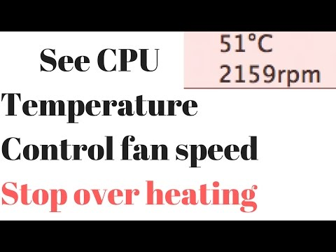How to see mac book cpu temperature 2017
