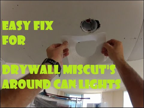 How to repair drywall mistakes around can lights- Easy Fix!! #drywallrepair