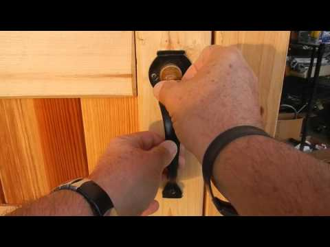 GATEMATE Rim Lock for Wood Gates How to Install