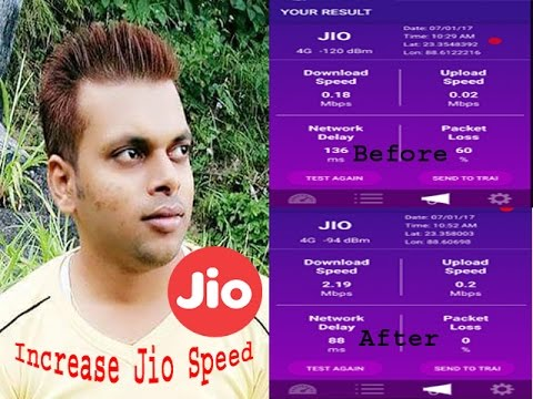 How to increase my jio network download speed