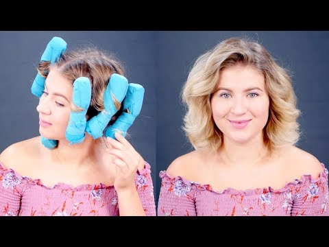 Testing Sleep Styler Heatless Curlers on Short Hair | Milabu