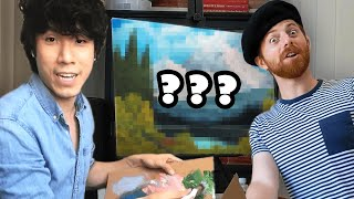 The Try Guys High Bob Ross Paint Challenge